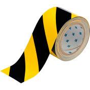 "Brady® 104347 ToughStripe Floor Marking Tape, Polyester 3""W X 100'L Black/Yellow"