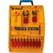 Brady® Ready Access Padlock Center w/Safety Padlocks, 105930