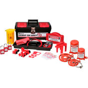 Brady® Personal Valve And Electrical Lockout Toolbox Kit, 105955