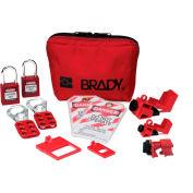 "Brady® 105967 Breaker Lockout Sampler Toolbox Kit With Safety Padlocks, 7-1/2""W x 4-3/4""H"