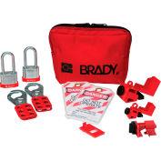 Brady® Personal Breaker Lockout Pouch Kit w/2 Steel Padlocks, 105968