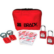 "Brady® 105969 Personal Padlock Pouch Kit With Safety Padlocks Nylon, Polycarbonate, 1-1/2""W"