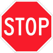 "Brady® 115589 Stop Sign, 12""H X 12""W, HIP Reflective Sign, Aluminum, 12""W x 12""H"