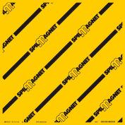 "Brady® Spill Magnet Drain Cover, 24""W X 24"" L, Yellow/Black, 3111LS"