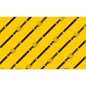 "Brady® Spill Magnet Drain Cover, 24""W X 36"" L, Yellow/Black, 3112LS"