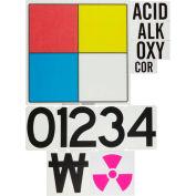 "Brady® 50056 NFPA Placard System Kit, 16"" X 16"", Red/Yellow/Blue/White"