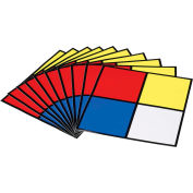 "Brady® 58503 Hazardous Materials Diamond Label, 10"" X 10"", Red/Yellow/Blue/White"