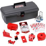 "Brady® 65289 Basic Electrical Lockout Toolbox, Polycarbonate, 14""W x 5-1/4""H"