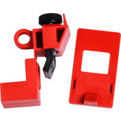 "Brady® 65396 120/277 Volt Clamp-On Breaker Lockout, Polypropylene, 15/16""W x 2-3/16""H"