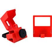 """Brady® 65397 480/600 Volt Clamp-On Breaker Lockout, Polypropylene, 1-9/16""""W x 3-1/4""""H"""