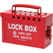 "Brady® 65699 13 Lock Portable Metal Lock Box, Steel, 9""W x 6""H"