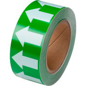 "Brady® 91421 Pipe Marker Arrow Tape, Vinyl, 2""W x 30 Yds., Green/White"
