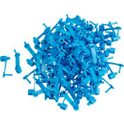 "Brady® 95162 Ring-Loc Drum Seals, 1-3/4""L, Polypropylene With Shroud, Blue, 100/Pkg"