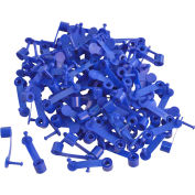 "Brady® 95163 Ring-Loc Drum Seals, 1-3/4""L, Polypropylene Without Shroud, Blue, 100/Pkg"