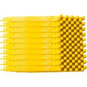 """Brady® 95196 Truck Seals, Plastic, 7-1/2""""L, Yellow, 100/Pkg"""