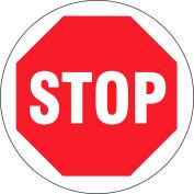 "Brady® 97614 Floor Stop Sign, 17""Dia, Red/White, Anit-Skid, Vinyl, 17""Dia"