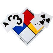 "Brady® 99444 NFR Vinyl Sign Kit, 15"" X 15"", Red/Yellow/Blue/White"