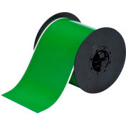 "Brady® B30 Series Indoor-Outdoor Industrial Vinyl Labels, 4""W X 100'L, Green, B30C-4000-595-GN"