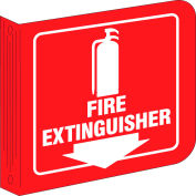 "Brady® L0FE15A Fire Extinguisher ""L"" Sign, Acrylic, 8""W x 8""H"