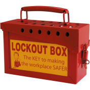 "Brady® LG096E 13 Lock Portable Metal Lock Box, Steel, 9""W X 6""H"