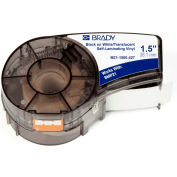"Brady BMP21 Series Self-Laminating Vinyl Wire & Cable Labels, 1-1-2""W X 7'L, Blk-Wht, M21-1500-427"