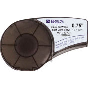 """Brady BMP21 Series Self-Laminating Vinyl Wire And Cable Labels, 3-4""""W X 14'L, Blk-Wht, M21-750-427"""