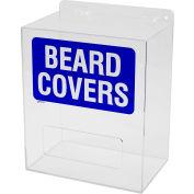 "Brady® PD325E Beard Cover Dispenser, Acrylic, 12""W x 14""H"