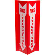 "Brady® SP818V Fire Extinguisher ""V"" Sign, 2 Sided, Tall, Acrylic, 8-1/2""W x 18""H"