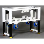 "Built Systems 72""W x 30""D Machine Base - 1200LB Capacity - White"