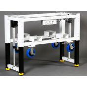 "Built Systems 84""W x 30""D Machine Base - 1200LB Capacity - White"