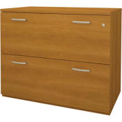 Pro-Biz Oversized Lateral File in Cappuccino Cherry - Fully Assembled