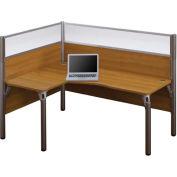 """Pro-Biz Single Left L-Desk Workstation in Cappuccino Cherry 55-1/2""""H"""