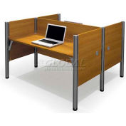 "Pro-Biz Double Face to Face Workstation in Cappuccino Cherry 43""H"
