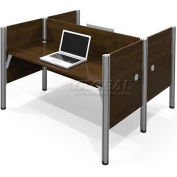 "Pro-Biz Double Face to Face Workstation in Chocolate 43""H"