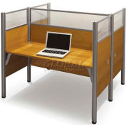 Pro-Biz Double Face to Face Workstation in Cappuccino Cherry 55-1/2""