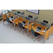 "Pro-Biz Six Straight Desk Workstation in Cappuccino Cherry 55-1/2""H"