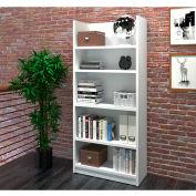 "Bestar® Bookcase 5 Shelf 29-7/8""W x 12-5/8""D x 67-11/16""H White"