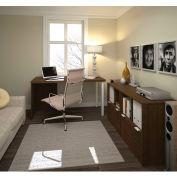 Bestar i3 Series Executive Kit in Medium Oak with 2 File Drawers & Storage Unit