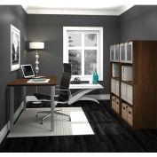 "Bestar i3 Series Executive Kit in Medium Oak & Storage Unit with 56-3/4"" Hutch"