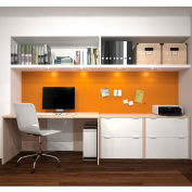 Bestar i3 Series Executive Kit in Northern Maple and Sandstone with 4 File Drawers