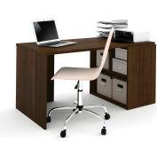 Bestar i3 Series Workstation in Medium Oak