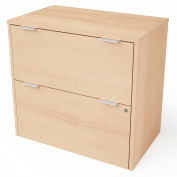 """Bestar® Lateral File Cabinet 2 Drawer 30-1/8""""W x 18-3/16""""D x 28-1/2""""H Northern Maple"""