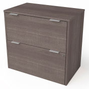 """Bestar® Lateral File Cabinet 2 Drawer 30-1/8""""W x 18-3/16""""D x 28-1/2""""H Bark Gray"""