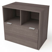 """Bestar® Lateral File Cabinet 1 Drawer 30-1/8""""W x 18-3/16""""D x 28-1/2""""H Bark Gray"""