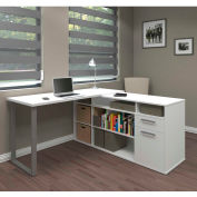 Bestar® L-Shaped Desk - White - Solay Series