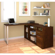 Bestar® L-Shaped Desk - Chocolate - Solay Series
