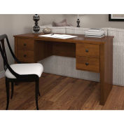 Bestar Somerville Executive Desk W/Two Pedestals  In Tuscany Brown