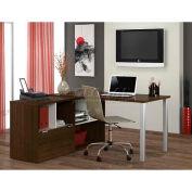 Bestar Contempo L-Shaped Desk In Tuxedo