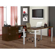 Bestar Contempo Executive Desk Kit In Tuxedo