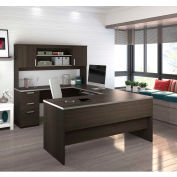 Bestar® U-Shaped Desk - Dark Chocolate - Ridgeley Series